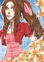 ACEO#8 Aerith by TabiiToast