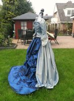 18th century dress back by michelleable