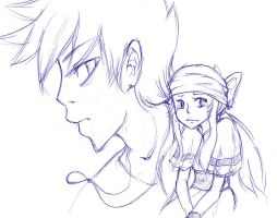 Melody and Gary Sketch by Ardhes