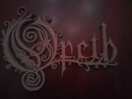 Opeth Logo Wood Carving by Eleven1129