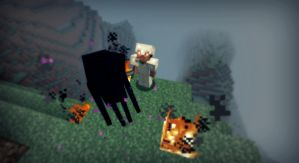 Minecraft - Attaque d'Enderman :o ! by AleksCube