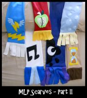 MLP FiM Character Scarves Part II by sophiecabra