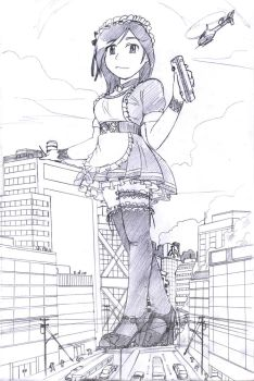 A big maid and a small city by Hank88