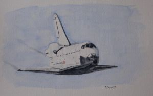 space shuttle by penpen90