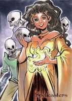Spellcasters Sketch Card - Irma Ahmed 2 by Pernastudios