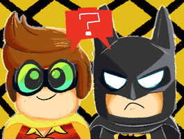 Ask Lego Batman and Lego Robin by velvet-fox123