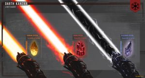 Sith Lightsaber - Blade Variety by Spetit05