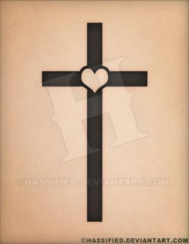 Heart Cross Tattoo by hassified