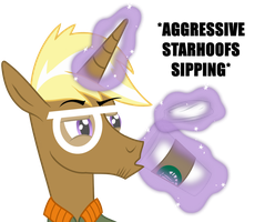*AGGRESSIVE STARHOOFS SIPPING* now with colour by Knadow-the-Hechidna