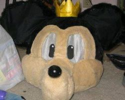 King Mickey head by MonkeyHeartless