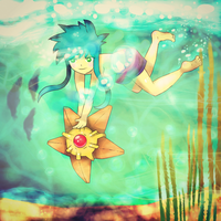 Vic and Staryu by trehman