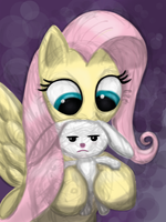 Portrait-a-Day -- Fluttershy by Drakmire