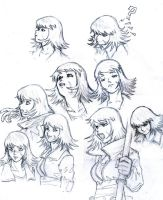 Faces Sketches by Darcad