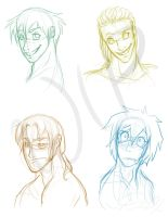 The DX Chronicles: Male Cast WIP by Dymin-Jay