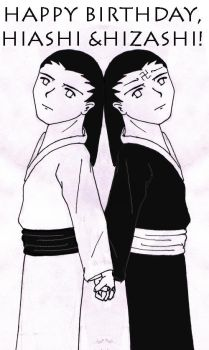 Happy Birthday, Hyuga Twins by Tomodachi-Kiko
