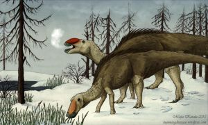 Rudolph the Red-Nosed Hadrosaur by Eurwentala