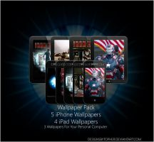 Iron Man Wallpaper Pack by DesignsByTopher