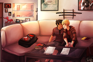 JohnDave study date commission by Panic-Is-My-Rain