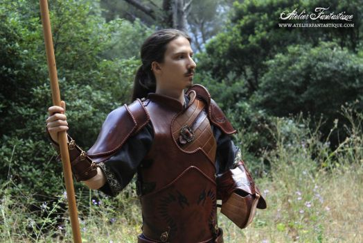 Dragon hunter leather armor by AtelierFantastique