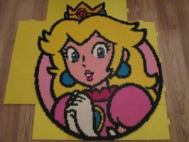 Peach Character Icon - SM3DW Bead by VV-Weegee