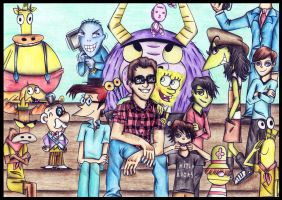 Tom Kenny and his BFFs ! by MrsxSnake