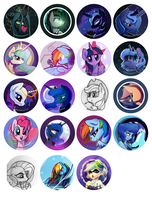 2015 Button Designs (So far) by DarkFlame75