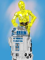 C-3PO and R2-D2 by icjaker