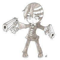 Chibi Death The Kid by BlackSythe73