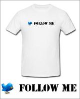 Twitter shirt follow me by pilotaz