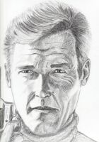Sir Roger Moore by HallgrimDenStore