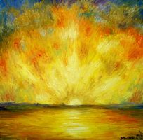 A Golden Lit Sea (Sold) by Dunn95