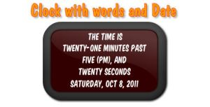 Clock with Words and Date by flashdo