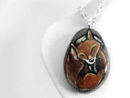 Red Fox Pendant Necklace by sobeyondthis