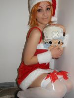 Nami and Chopper christmas version by Mellorineeee