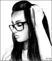 Girl with glasses by NutaNeurotic