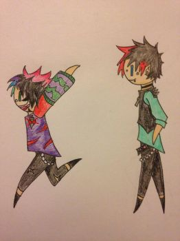 Dahvie and Jayy by lonly-chibi-dragon