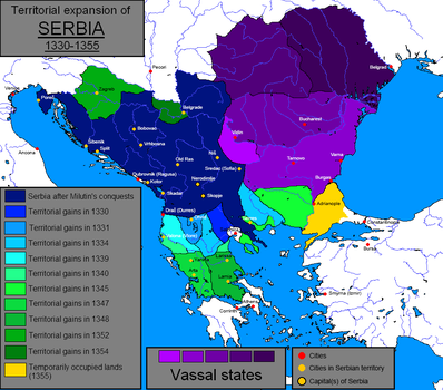 Territorial Expansion of Serbia by TheWeirdSerb