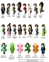 Shawn's outfits. by ShadowMark158