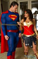 Superman and Wonder Woman Cosplay 2 by PhoenixForce85