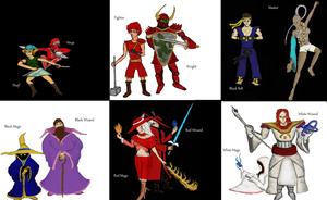 Final Fantasy 25th Anniversary: All FF1 Classes by TheWiseWeirdProphet