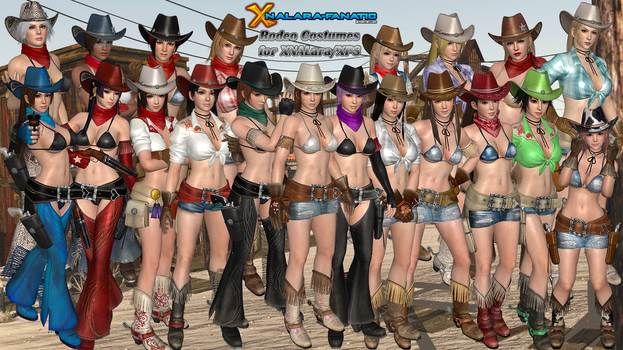 DOA5LR Rodeo Time DLC Costumes for XNALara/XPS by XNALara-Fanatic