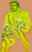 Cammy Chun Li and Hulky by StressedJenny