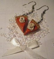 Pumpkin Pie Earrings by Mika-Chan-Ness