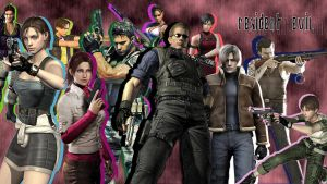 Resident Evil Main Characters by MusashiChan69