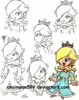 Princess Rosalina Doodles by cmsimeon589