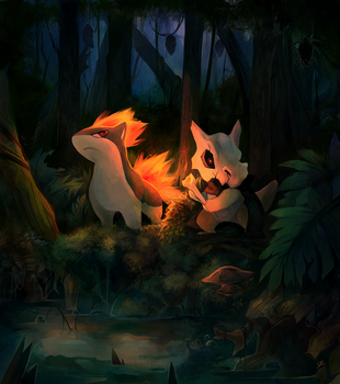 Commission: Into swamp by salanchu
