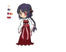 Shrine Maiden Adoptable: CLOSED by GangstaCakes