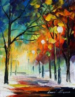 White imagination by Leonid Afremov by Leonidafremov
