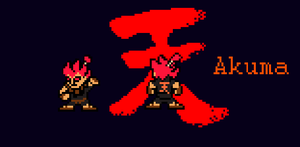 Street Fighter X Megaman Akuma sprite by chanox2010