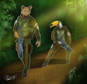 Animal Soldiers by daftdance